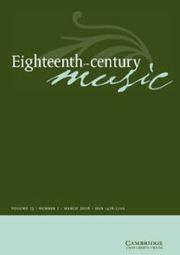 Eighteenth-Century Music Volume 13 - Issue 1 -