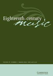 Eighteenth-Century Music Volume 16 - Issue 1 -