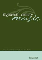 Eighteenth-Century Music Volume 16 - Issue 2 -