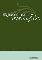 Eighteenth-Century Music Volume 7 - Issue 2 -