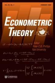 Econometric Theory Volume 24 - Issue 1 -