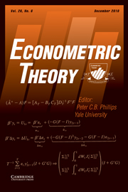 Econometric Theory Volume 26 - Issue 6 -