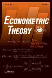 Econometric Theory Volume 35 - Issue 3 -
