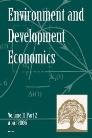 Environment and Development Economics Volume 11 - Issue 2 -