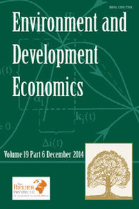 Environment and Development Economics Volume 19 - Issue 6 -