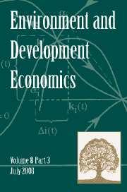 Environment and Development Economics Volume 8 - Issue 3 -