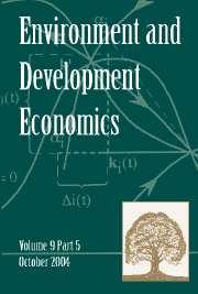 Environment and Development Economics Volume 9 - Issue 5 -