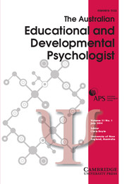 The Educational and Developmental Psychologist Volume 31 - Issue 1 -