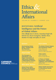 Ethics & International Affairs Volume 33 - Issue 2 -