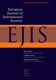 European Journal of International Security Volume 4 - Issue 2 -