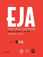 European Journal of Anaesthesiology Volume 23 - Issue 5 -