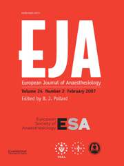 European Journal of Anaesthesiology Volume 24 - Issue 2 -