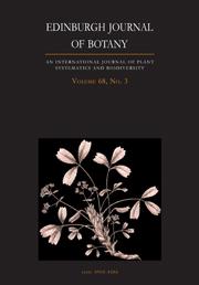 Edinburgh Journal of Botany Volume 68 - Issue 3 -