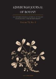 Edinburgh Journal of Botany Volume 72 - Issue 2 -