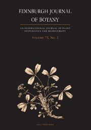 Edinburgh Journal of Botany Volume 73 - Issue 2 -
