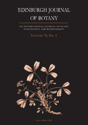 Edinburgh Journal of Botany Volume 74 - Issue 1 -