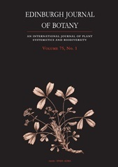 Edinburgh Journal of Botany Volume 75 - Issue 1 -