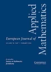 European Journal of Applied Mathematics Volume 16 - Issue 1 -