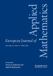 European Journal of Applied Mathematics Volume 24 - Issue 2 -