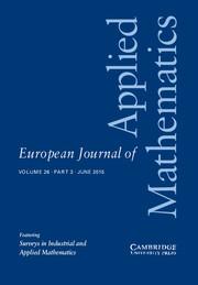 European Journal of Applied Mathematics Volume 26 - Issue 3 -