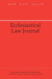 Ecclesiastical Law Journal Volume 10 - Issue 1 -