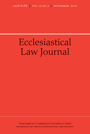 Ecclesiastical Law Journal Volume 12 - Issue 3 -