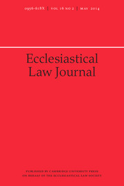 Ecclesiastical Law Journal Volume 16 - Issue 2 -
