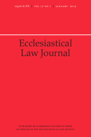 Ecclesiastical Law Journal Volume 17 - Issue 1 -