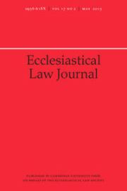 Ecclesiastical Law Journal Volume 17 - Issue 2 -