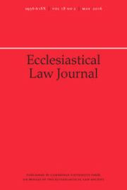 Ecclesiastical Law Journal Volume 18 - Issue 2 -