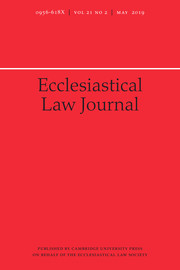 Ecclesiastical Law Journal Volume 21 - Issue 2 -