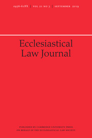 Ecclesiastical Law Journal Volume 21 - Issue 3 -