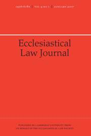 Ecclesiastical Law Journal Volume 9 - Issue 1 -