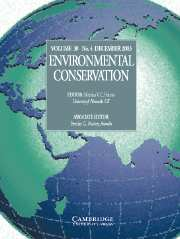 Environmental Conservation Volume 30 - Issue 4 -