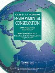 Environmental Conservation Volume 33 - Issue 4 -