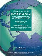 Environmental Conservation Volume 34 - Issue 2 -