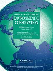 Environmental Conservation Volume 34 - Issue 3 -