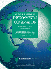 Environmental Conservation Volume 35 - Issue 1 -