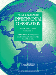 Environmental Conservation Volume 36 - Issue 2 -