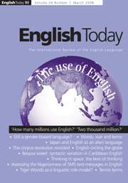 English Today Volume 24 - Issue 1 -