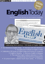 English Today Volume 25 - Issue 4 -