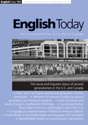 English Today Volume 26 - Issue 3 -