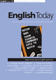 English Today Volume 29 - Issue 2 -