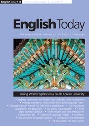 English Today Volume 30 - Issue 2 -