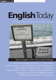 English Today Volume 30 - Issue 3 -