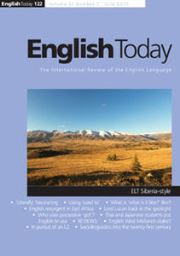 English Today Volume 31 - Issue 2 -