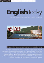English Today Volume 31 - Issue 3 -