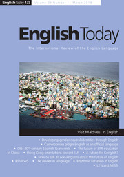English Today Volume 34 - Issue 1 -