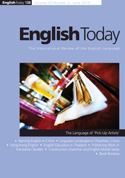 English Today Volume 35 - Issue 2 -