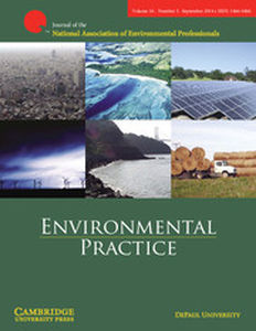 Environmental Practice Volume 16 - Issue 3 -